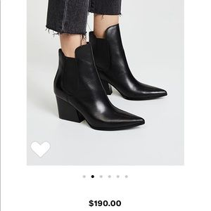 Kendall & Kylie Finley black leather booties